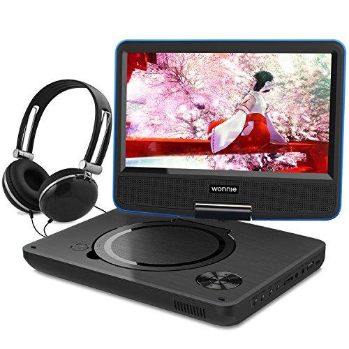 ポータブルDVDプレーヤー 9.5インチ ワイド液晶 リージョンフリー SD/MS/MMCカード/USBに対応 (ブルー)