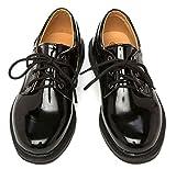 【Micopuella】 子供 靴 フォーマル シューズ エナメル オックスフォード 男の子 ジュニア キッズ レザー 履きやすい 紐靴 革 フラット 入学式 卒業式 結婚式 発表会 七五三 (21㎝)