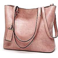 Pu Leather Tote Bag Women Handbags Designer Oil Wax Leather Large Capacity Shoulder Bags Fashion Lady Purses Crossbody Bag