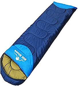 Sarada 寝袋 シュラフ コンパクト収納 封筒型寝袋 連結 アウトドア用品 災害グッズ 1.35kg 水色×ブルー [並行輸入品]