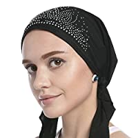 b0f9cb1c859a ムスリム レディース 帽子 シンプル イスラム教徒 ヘッドスカーフ バンダナキャップ 汗止め ヘッドカバー 女性 ターバン 春