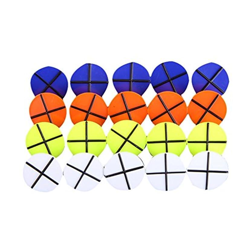 代わりのイノセンス愚かな20Pcs ゴルフボールマーカー ボールマーク プラスチック製 4色円形