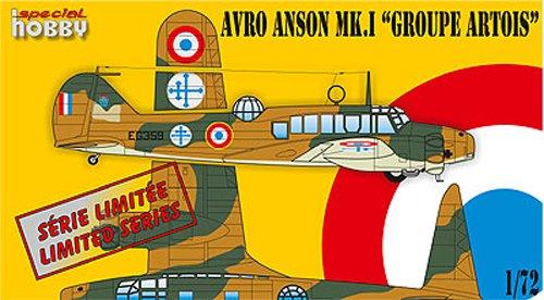 1/72 アブロ・アンソン汎用輸送機・自由フランス軍 SH72254