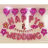 HAPPY WEDDING 結婚式 風船 ハッピーバースデー バルーン 装飾 デコレーション アルファベット 文字 (1)