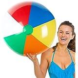 Sol Coastal Jumbo 6-Color Inflatable Beach Ball (36-inch) [並行輸入品]
