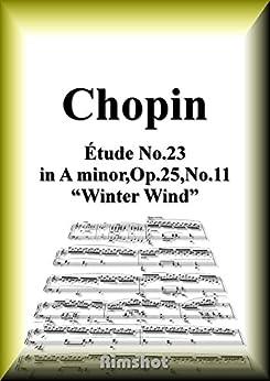 [Frédéric François Chopin]のショパン 木枯らし Op.25 No.11 ピアノ・ソロ