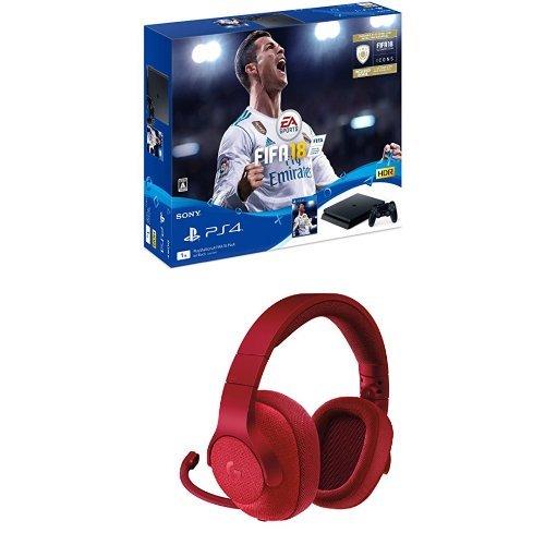 PlayStation 4 FIFA 18 Pack+ロジクール ゲーミングヘッドセット レッド G433RD