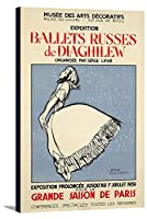 Ballets Russes de Diaghilewヴィンテージポスター(アーティスト: Cocteau )フランスC。1939 10 1/4 x 18 Gallery Canvas LANT-3P-SC-73977-12x18