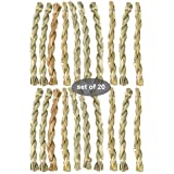 20 Pack Grass Chew Stick Toys for Rabbit, Bunny, Mice, Hamster, Chinchilla, Guinea Pig and Small Animals | Pet Snack Non-Toxic Natural Materials