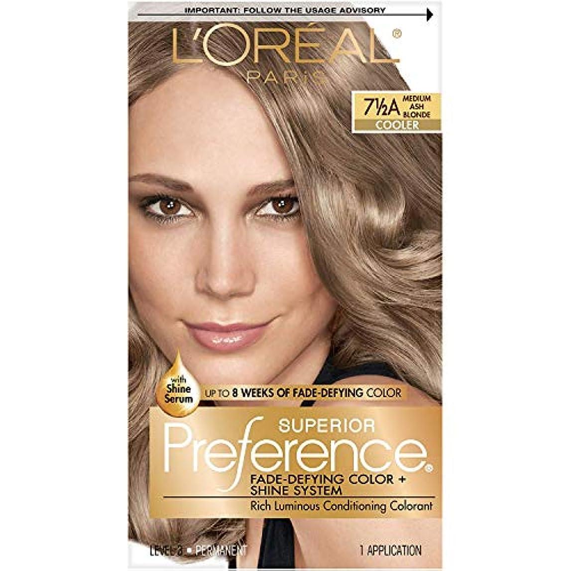 硬化する太い経済海外直送肘 LOreal Superior Preference Hair Color Medium Ash Blonde, Medium Ash Blonde 1 each