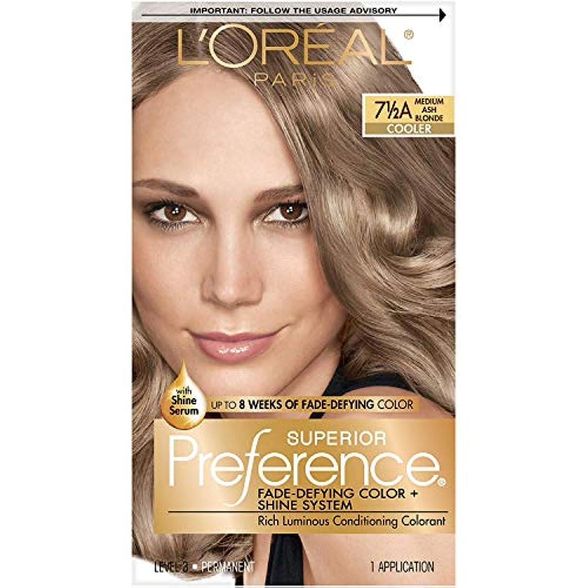 乱雑なひどい大惨事海外直送肘 LOreal Superior Preference Hair Color Medium Ash Blonde, Medium Ash Blonde 1 each
