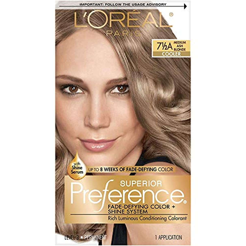 海外直送肘 LOreal Superior Preference Hair Color Medium Ash Blonde, Medium Ash Blonde 1 each