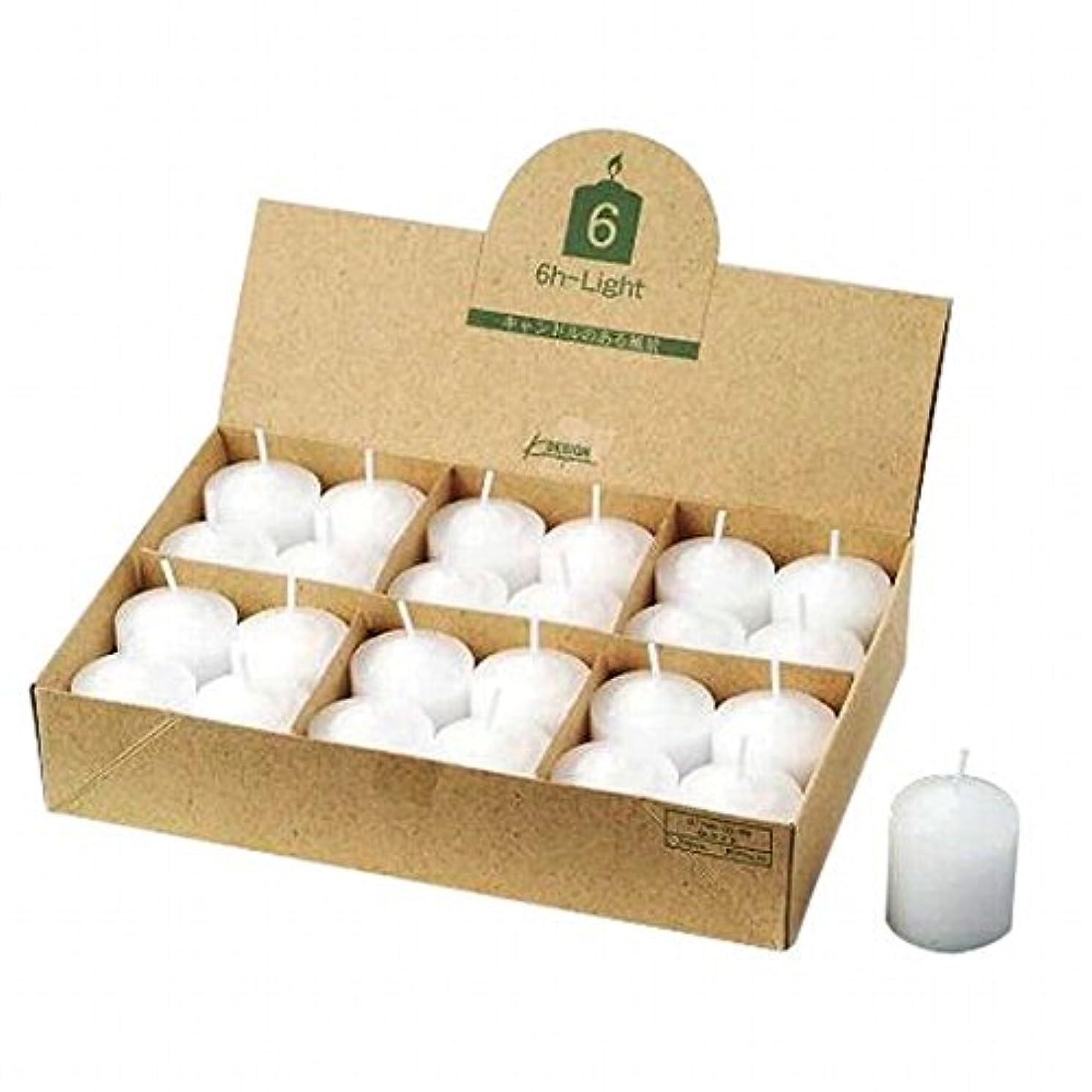 かる食堂名詞カメヤマキャンドル(kameyama candle) 6Hライト(6時間タイプ)24個入り(日本製)
