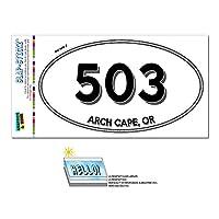 503 - アーチケープ, OR - オレゴン - 楕円形市外局番ステッカー