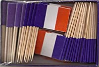 25ボックス卸売ロットフランスのつまようじフラグ、2500Small French Flag ToothpicksまたはCocktail Picks