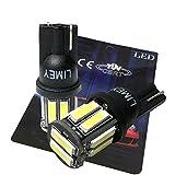 LIMEY 最新!5W級 爆光 T10 LED バルブ ホワイト 白 ポジション ウエッジ SMD7020 10連×2SMD 20チップ搭載 6000K ナンバー ルームランプ 取説&保証書付 2個入 【ベース:黒】 L-T10W7020B2