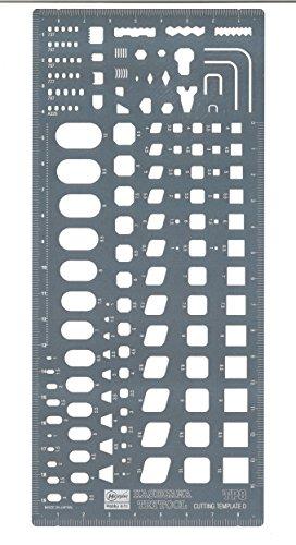 ハセガワ トライツール カッティングテンプレートD 四角形状定規 TP8  B