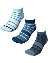 (WA710) 靴下 メンズ 軍足 蒸れない快適オールメッシュミドル丈ソックス 裏までメッシュで通気性バツグン 安全靴や作業用に ボーダー 3足組 24.5~27cm
