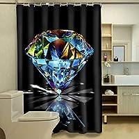 浴室のシャワーカーテン 世帯浴室の仕切りのカーテン、浴室のカーテン3Dのシャワーカーテン浴室のシャワーのカーテン防水シャワーのカーテンの速い乾燥のシャワーのカーテン (Color : 165*180CM, サイズ : 1001)