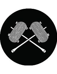 家紋シール 違い枠糸巻紋 布タイプ 直径40mm 6枚セット NS4-0063
