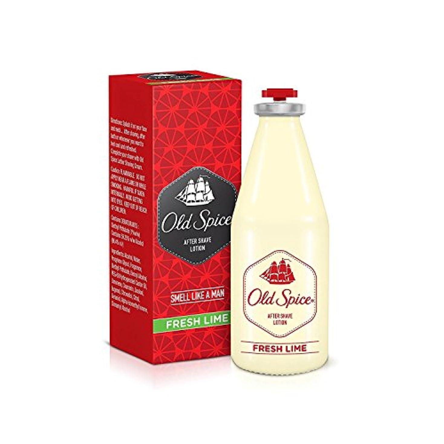 挽くなしで反対Old Spice After Shave Lotion 150ml - Fresh lime Fragrances