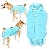 犬猫の服 full of vigor 獣医師と共同開発 エリザベスカラーに代わる犬用 術後服エリザベスウエア 中型犬用 男の子 雄用 カラー 7 ブルー サイズ N3L フルオブビガー
