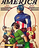 Journal: Fantastic Incredible Drawing Photo Art Captain America Steve Rogers Comic Universe Soft Glossy Wide Ruled Journal with Ruled Lined Paper for Taking Notes Writing Workbook for Teens and Children Students School Kids