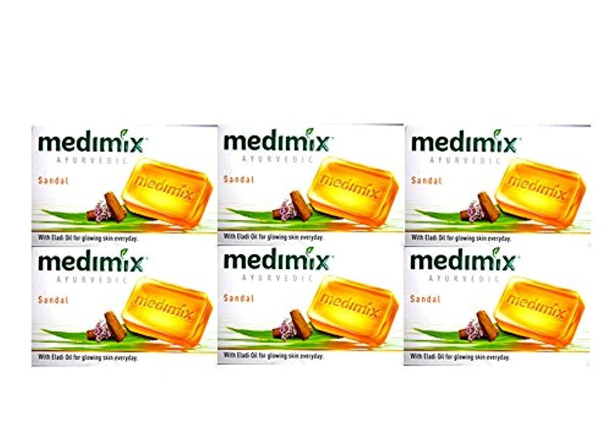 ジョットディボンドンシャッター段階MEDIMIX メディミックス アーユルヴェディックサンダル 6個セット(medimix AYURVEDEC sandal Soap) 125g