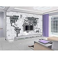 Ansyny 3Dの壁紙/カスタムルームの壁画/写真の壁紙/レンガの壁の地図の世界/テレビの背景の壁/寝具/ソファ/Ktv/バー/ホテル/リビングルーム-130X100CM