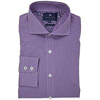 Wayver Purple Stretch Gingham Check Business Shirt