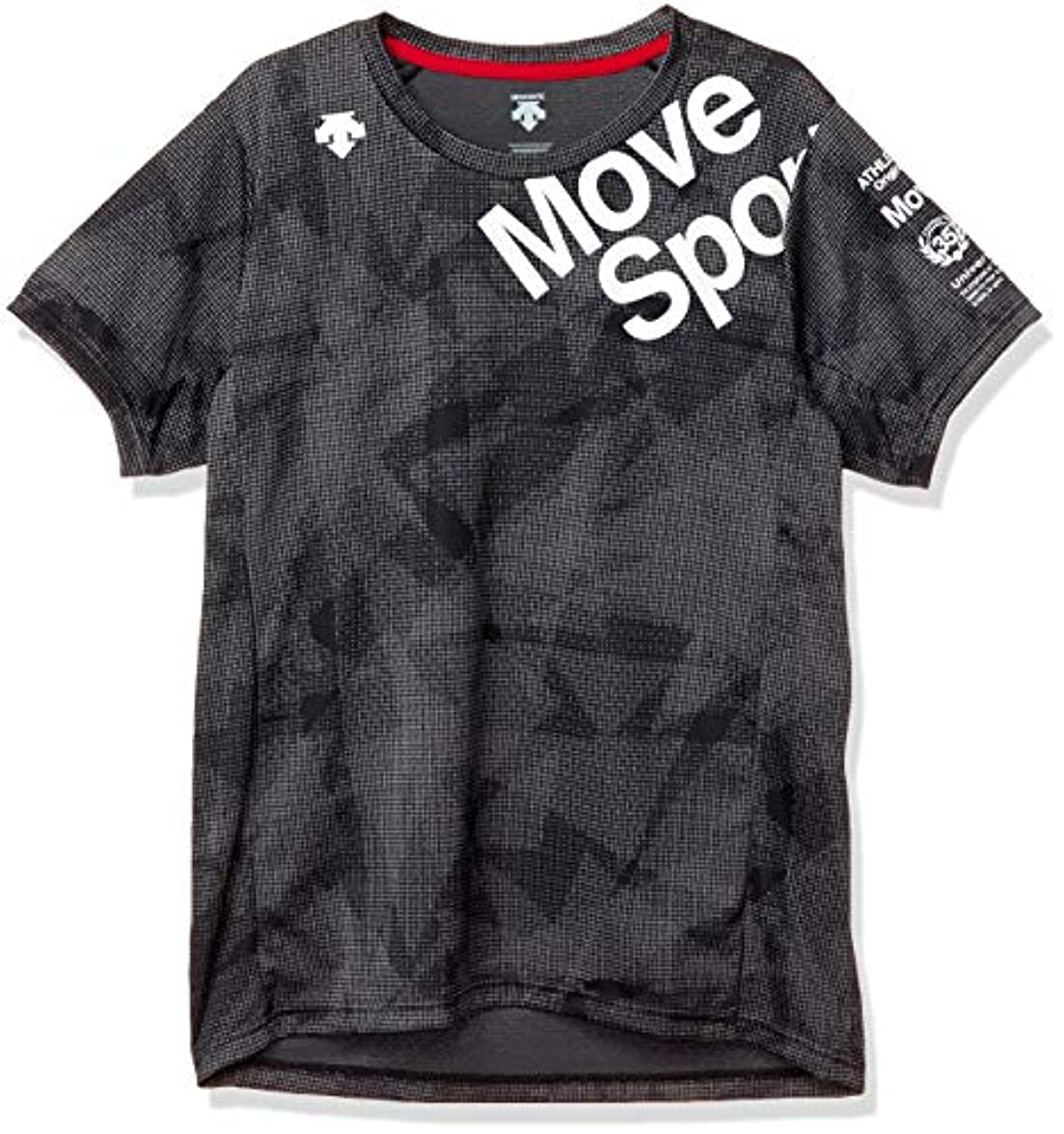 つづりエンティティ発見[デサント] ジャガードグラフィックTシャツ MOVE SPORT ストレッチ DMMPJA63 メンズ