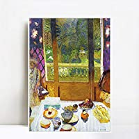 """Framed Canvas forest paths by Peder Mork Monsted Wall Art Living Room Home Office Decorations(White Slim Frame,16""""x32"""")"""