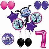 Vampirina 7歳誕生日パーティーバルーンブーケバンドル 7歳用 バルーン13個付き