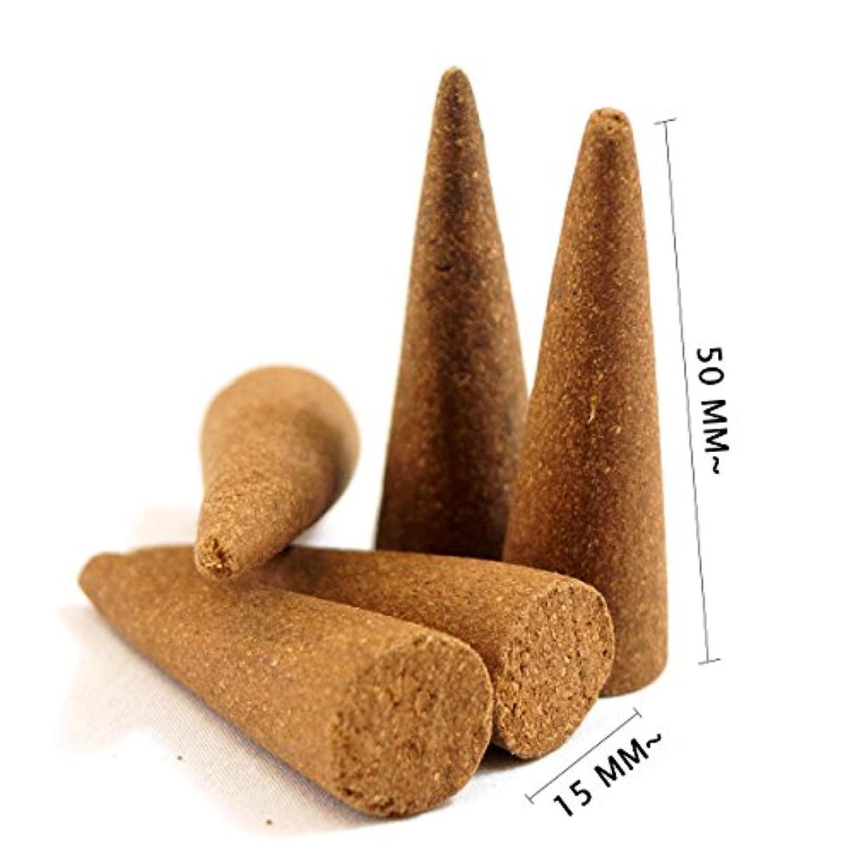 縮れたトランスミッション福祉Sandalwood Incense Cones 40