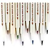 Metallic Markers Glitter Paint Pen Calligraphy Brush Pens, Ohuhu Set of 10 for DIY Birthday Greeting Gift Thank You Card, Scrapbook Photo Album, Rock Art Painting, Brush Tip