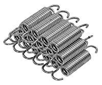 (5.5-Inch) - Upper Bounce Heavy-Duty Galvanised Trampoline Springs (Pack of 15) - Metal, 14cm - Springs Measure from End to End