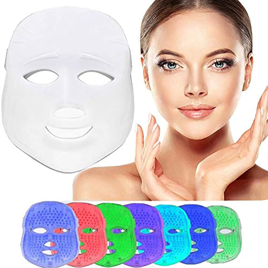 軽い療法のマスク、7色は反老化の引き締めの皮のための光子の顔のマスク機械導かれたマスクの美のスキンケアを導きました