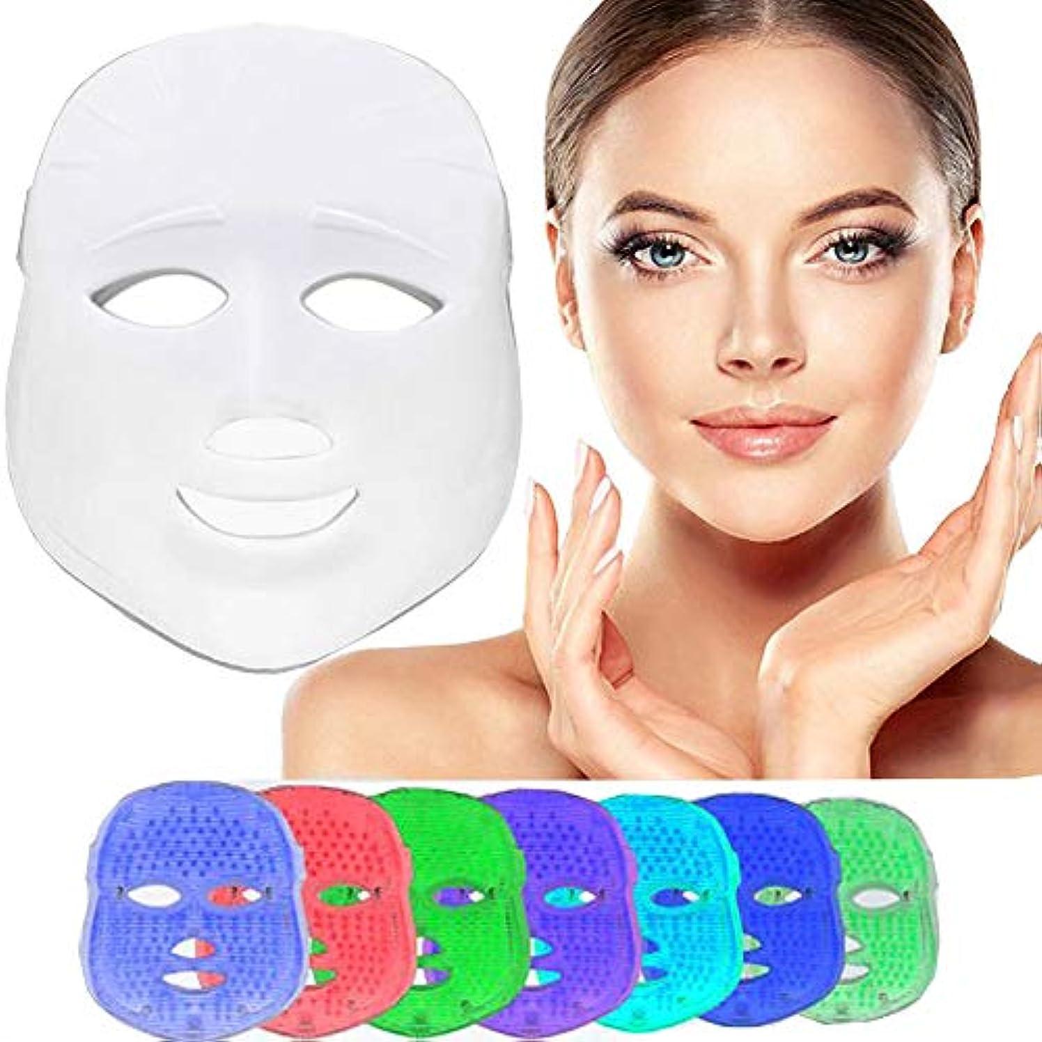 説教する質素な粒軽い療法のマスク、7色は反老化の引き締めの皮のための光子の顔のマスク機械導かれたマスクの美のスキンケアを導きました
