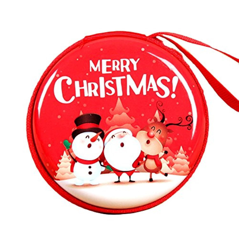 Liebeye 女性財布 クリエイティブ クリスマスパターン コイン 小銭入れ ジッパーポケット 3.5cm