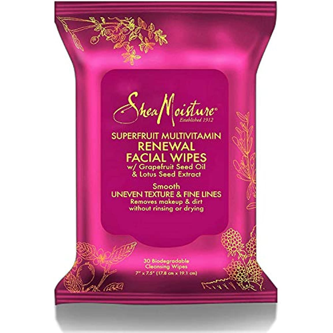 相互接続損なうまたはSuperfruit Multi-Vitamin Renewal Facial Wipes