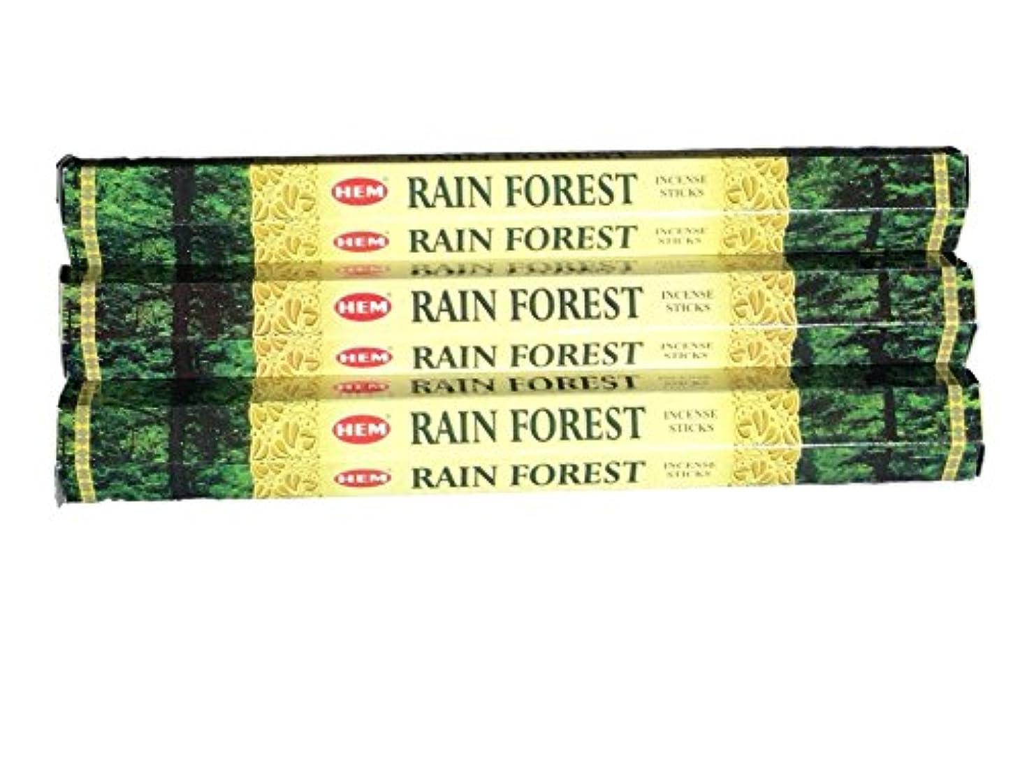 観察する入る読み書きのできないHEM ヘム レインフォレスト RAINFOREST ステック お香 3箱