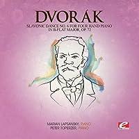 Slavonic Dance 6 Four Hand Piano B-Flat Maj 72
