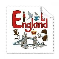 England National Symbol Landmarkパターン眼鏡布クリーニングクロス電話画面クリーナー5点ギフト