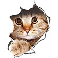 ?3 D かわいい 動物 リムーバブル バスルーム トイレ 座席ウォール ステッカー壁紙 猫