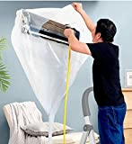 DSOL エアコン洗浄カバー エアコン掃除カバー 360度目視洗浄エアコン 壁掛け用 エアコン掃除用カバー 汚水の飛び散…