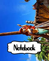 Notebook: The Little Mermaid Ariel Musical Romantic Fantasy Kingdom Colorful Princess Magical Ocean, Sketchbook Graph Paper Composition Notebook, Journal, Diary • One Subject • 110 Pages Kids Adults Paper 7.5 x 9.25 Inches