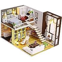 KESOTO おもちゃ DIYドールハウス ミニチュア 1/24スケール 部屋家具 LEDライト オルゴール