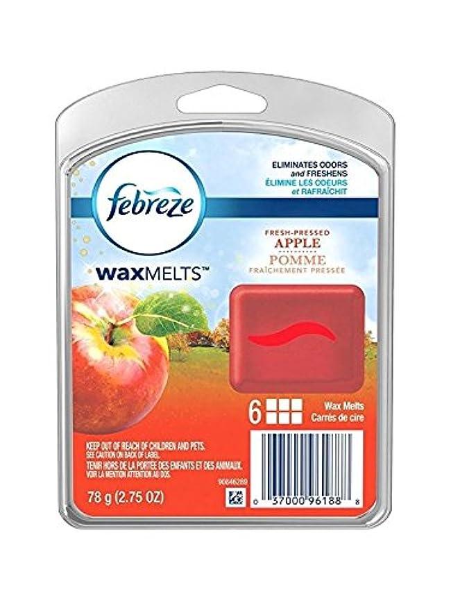 器官規定経由で【Febreze/ファブリーズ】 ワックスメルト フレッシュプレスドアップル 6個入り Wax Melts Fresh Pressed Apple Air Freshener (78 g / 2.75 oz)