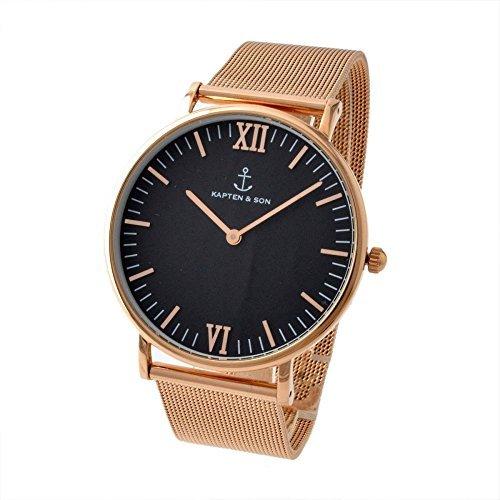 [キャプテンアンドサン] KAPTEN & SONS 腕時計 Campus-M-GBG メッシュ 40mm ローズゴールド・ブラック レディース [並行輸入品]