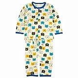 男の子 長袖 パジャマ キッズ 前開きパジャマ 丸首 ルームウェア 上下セット 子供 ホワイト-(WH) 100cm